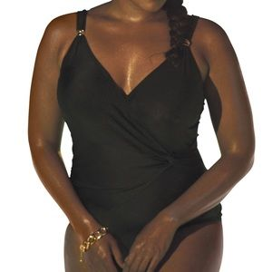 Swimsuits For All NWT Faux-Wrap Swimsuit, 14